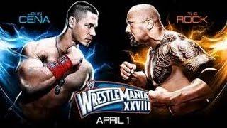 The Rock vs John Cena WrestleMania 28 highlight [HD]