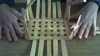 getlinkyoutube.com-Basket Weaving Video #5 Upsetting the Sides of a Basket