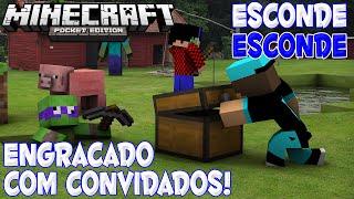 Minecraft PE 0.13.0 (Esconde-Esconde) Mais Engraçado!!! Ft: Donatello
