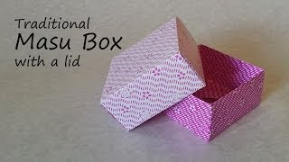 getlinkyoutube.com-Origami Masu Box with Lid: Tutorial