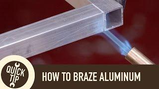 "getlinkyoutube.com-How to ""Weld"" Aluminum Without a Welder"