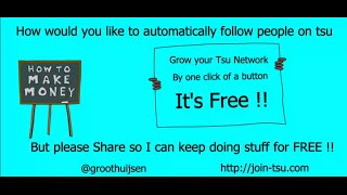 TSU Follower Tool - tsu automatic adding followers