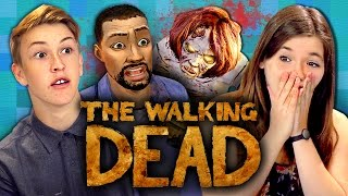 getlinkyoutube.com-THE WALKING DEAD: Episode 1 - Part 1 (Teens React: Gaming)