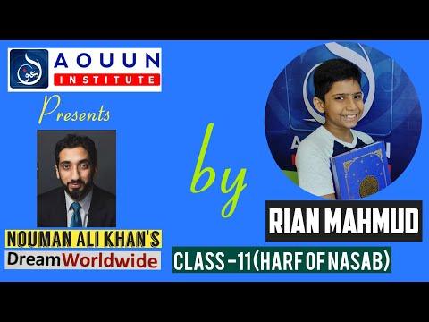 Dream Course (Class-11) HARF OF NASAB