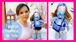 getlinkyoutube.com-Tutorial muñeca de tela estilo Gorjuss y SORTEO manualidades faciles para regalar o vender Isa ❤️