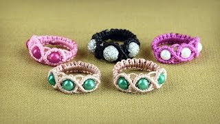 getlinkyoutube.com-Wavy Ring Tutorial in Vintage Style by Macrame School | DIY