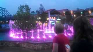 The Island at Pigeon Forge - the dancing fountains - one block from our hotel