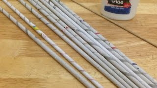 getlinkyoutube.com-How To Make Easy Rolled Newspaper Tubes - DIY Crafts Tutorial - Guidecentral