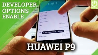 Developer Options HUAWEI P9 - Enable USB Debugging in Android