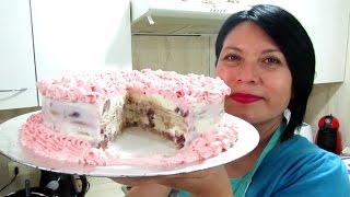 getlinkyoutube.com-TORTA HELADA DE FRUTILLA SIN HORNO!!! - Silvana Cocina ❤