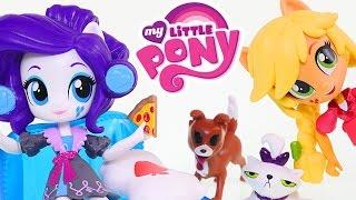 getlinkyoutube.com-My Little Pony Applejack Slumber Party Games * MLP Equestria Girl Doll Toys 2016 DCTC