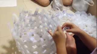 getlinkyoutube.com-การทำถังขยะจากขวดน้ำพลาสติก