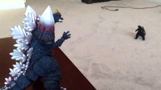 getlinkyoutube.com-Godzilla vs Space Godzilla STOPMOTION!!!!