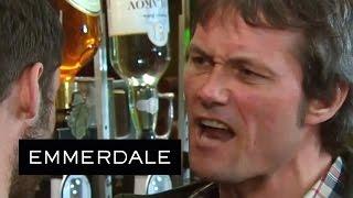 getlinkyoutube.com-Emmerdale - Aaron Smashes A Bottle Over James's Head