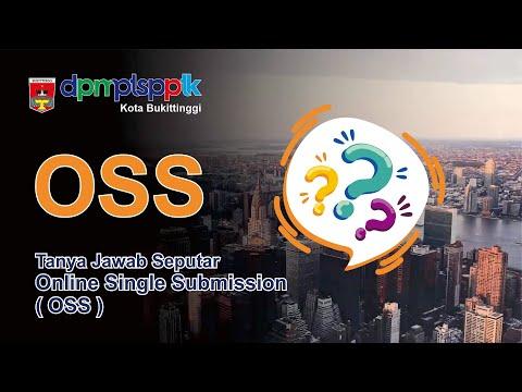 Tanya Jawab Seputar Online Single Submission OSS