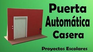 getlinkyoutube.com-Proyectos - Puerta Automática Casera ( muy fácil de hacer)