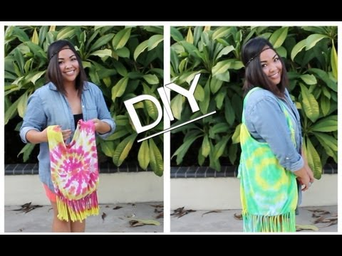DIY -NO SEW- Turn Your Old T-shirts into Reusable Bags [video]