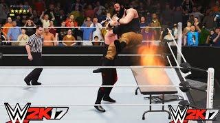 getlinkyoutube.com-WWE 2K17-Kane vs. Braun Strowman- Extreme Rule Match- Wrestlemania- Gameplay  (PS4)