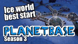 getlinkyoutube.com-Planetbase - s3 ep 1 - ICE WORLD, BEST START - Let's Play Planet Base