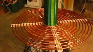 getlinkyoutube.com-My 900 VA Tesla Coil! (Resonant Transformer) Lightning Machine
