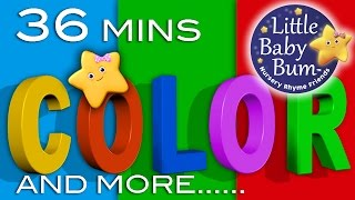 getlinkyoutube.com-Color Songs | Plus More Children's Learning Songs | 36 Minutes Compilation from LittleBabyBum!