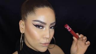 getlinkyoutube.com-AliExpress $1 Liquid lipstick ? DEMO+REVIEW | SAZY