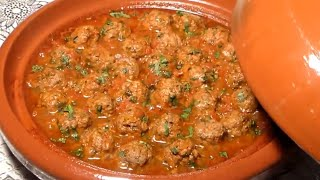 getlinkyoutube.com-طاجين الكفتة بصلصة الطماطم الشيف نادية | Boulettes de viande à la sauce tomate