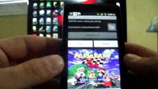N64 on Droid X (Nintendo 64 Emulator on all Android Devices Xoom Evo Thunderbolt) view on youtube.com tube online.