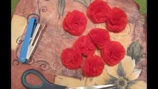 "getlinkyoutube.com-Букет роз из салфеток. Мастер-класс ""Как сделать букет роз из салфеток"""