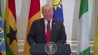 Trump mispronounces 'Namibia' in speech to African leaders