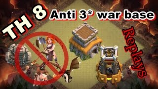 getlinkyoutube.com-🛡CLASH OF CLANS - Town hall 8 (TH8) War base - Anti valk - anti hog - anti drag - proof REPLAY  NEW
