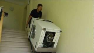 waschmaschine transportieren treppe