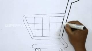getlinkyoutube.com-How to Draw a Shopping Cart