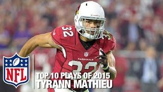 getlinkyoutube.com-Top 10 Tyrann Mathieu Highlights of 2015 | NFL