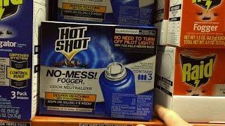 How To Use Hot Shot No Mess Fogger | Bug Bomb