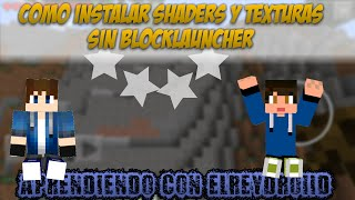 getlinkyoutube.com-Como Instalar Shaders y Texture Packs | Sin BlockLauncher - MCPE 0.11.0 Beta Build 2