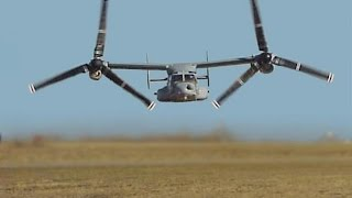getlinkyoutube.com-ONE OF A KIND US Military V 22 Osprey Tiltrotor Aircraft