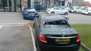 getlinkyoutube.com-Tesla crashes into Mercedes-Benz dealership