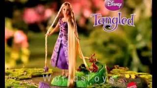 getlinkyoutube.com-2010 º Disney Tangled (Rapunzel) Hair Braider Doll Commercial
