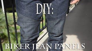 getlinkyoutube.com-DIY: Biker Jean Panels (Biker Jeans) Tutorial | KAD Customs #36