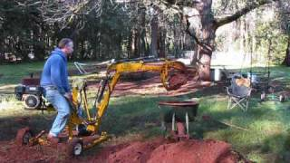 "getlinkyoutube.com-Greens Machines backhoe , ""The big job""."