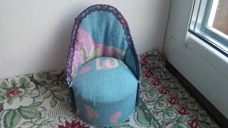 getlinkyoutube.com-Как сделать кресло для куклы. Мастер класс.