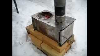 Rocket Stove Ideas 11 - Horizontal cook stove.wmv
