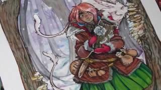 getlinkyoutube.com-Draw With Me- Mushroom Hunters Winter Walk