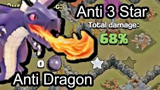 Clash of Clans - Town hall 8 (Th8) War Base Anti Dragon 3 stars + Epic Replay
