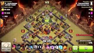 getlinkyoutube.com-#18 || 3 Stars TH10 ★★★ 3 Sterne RH10 || 6 Golems Max Helden || Clash of Clans