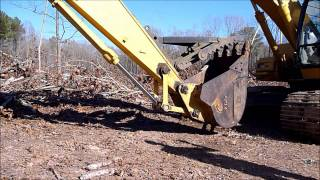 getlinkyoutube.com-Lowering A Manual Excavator Thumb