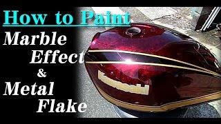 getlinkyoutube.com-How To  Custom Paint a Motorcycle with Marble & Metal Flake. ゼファー1100 ラップ&ラメ塗装