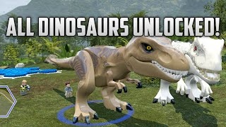 getlinkyoutube.com-LEGO Jurassic World - All Dinosaurs Unlocked