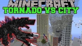 getlinkyoutube.com-MOBZILLA & TORNADO MOD VS NEW YORK CITY - Minecraft Mods Vs Maps (Bosses, Deadly Weather)